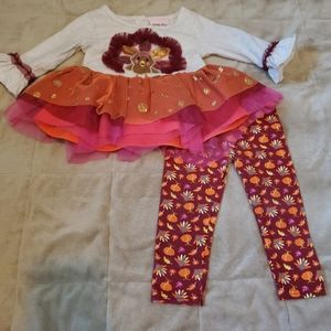 🎃🦃Cute 2pc Thanksgiving outfit. Size 12m🦃🎃